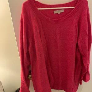 Hot pink loft sweater